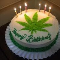 cannabis birthday cake